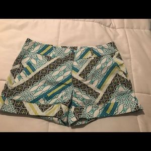 Colorful patterned Cuff Shorts!